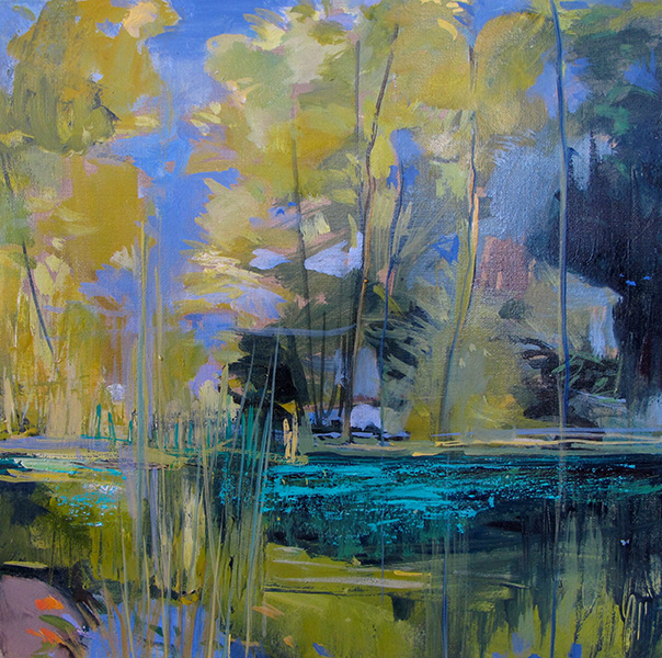 August Pond, 2011, 30x30cm., oil /canvas
